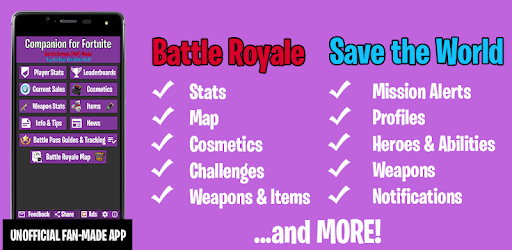 Chzhecer Fortnite Stw Companion For Fortnite Stats Map Shop Weapons Apps On Google Play