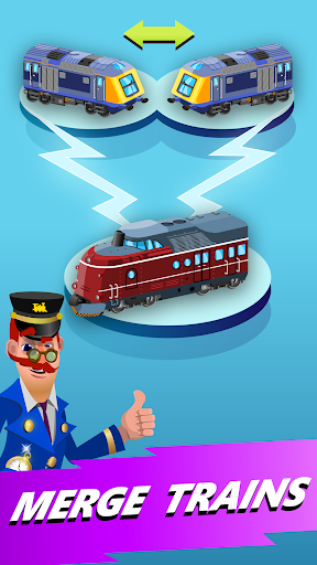 Train Merger - Idle Manager Tycoon apktram screenshots 1