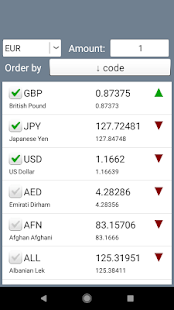 Currency Converter. Exchange rates and calculator Screenshot