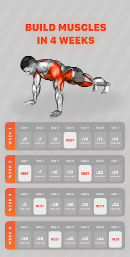 Workout Planner by Muscle Booster 1.7.7 Screenshots 1