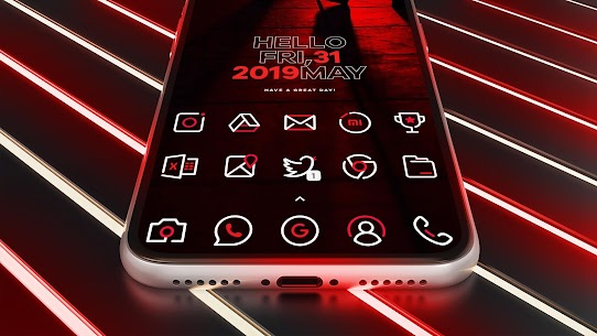 RedLine Icon Pack Pro Apk: LineX 2.7 (Patched) 7