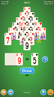 Pyramid Solitaire 4 in 1 Card Game