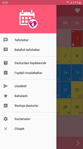 Ayollar kalendari va kundaligi 2.0.6 Screenshots 1