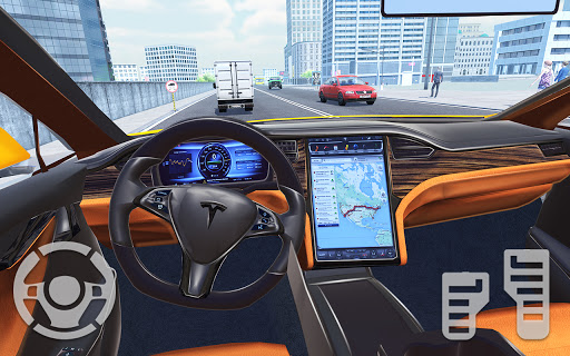Electric Car Simulator 2021: City Driving Model X apkmartins screenshots 1