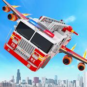 Flying Firefighter Truck Transform Robot Games