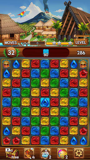 Island of Jewels: Aloha ! Match3 puzzle  screenshots 4