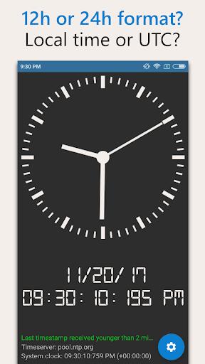 AtomicClock u2014 NTP Time (with widget) 1.7.6 screenshots 6