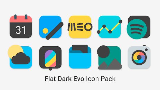 Flat Dark Evo – Icon Pack (MOD, Paid) v4.0 3