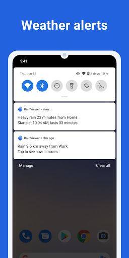 RainViewer: Weather forecast & storm tracker