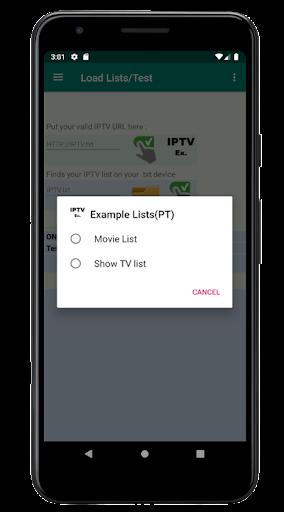Foto do IPTV Test Lists