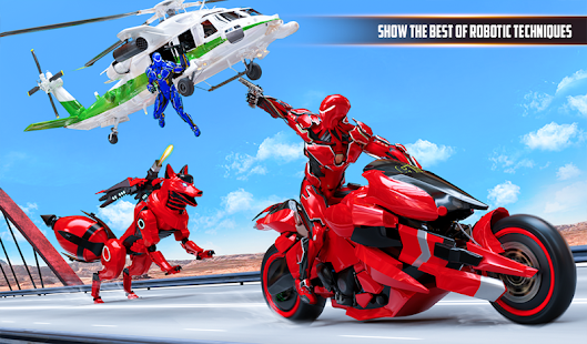 Wild Fox Transform Bike Robot Shooting: Robot Game 24 screenshots 7