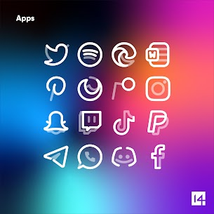 Aline White icon pack Apk- linear white icons (Paid) 7