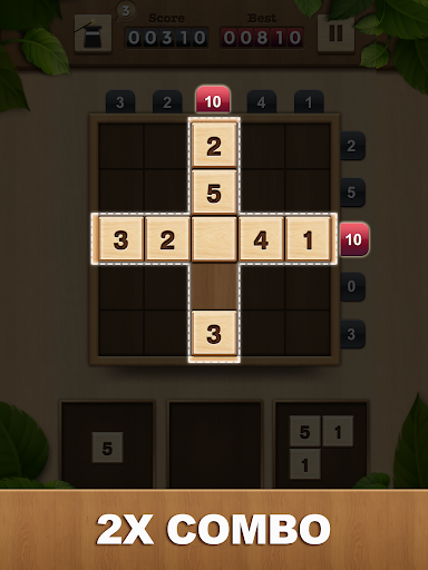 TENX - Wooden Number Puzzle Game  screenshots 7