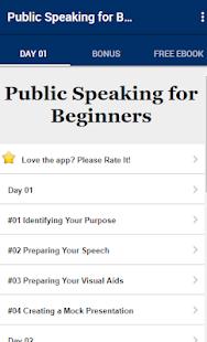 Public Speaking For Beginners
