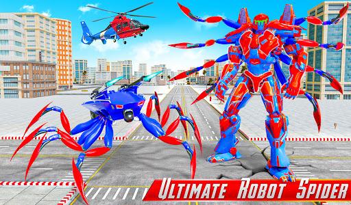 Spider Robot Car Game u2013 Robot Transforming Games android2mod screenshots 4