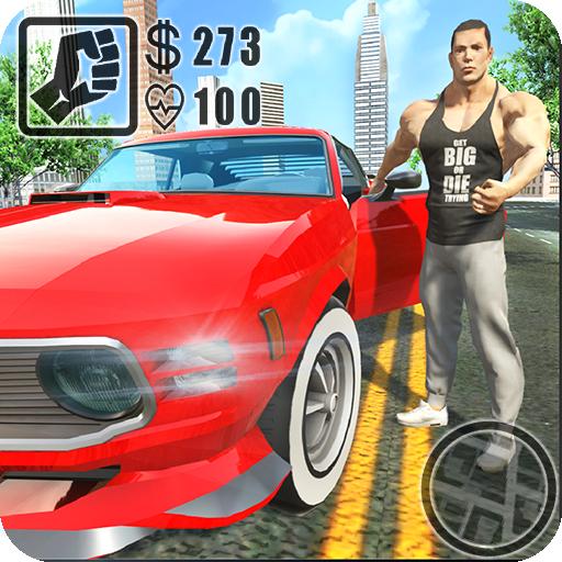 Crime Bull in City Icon