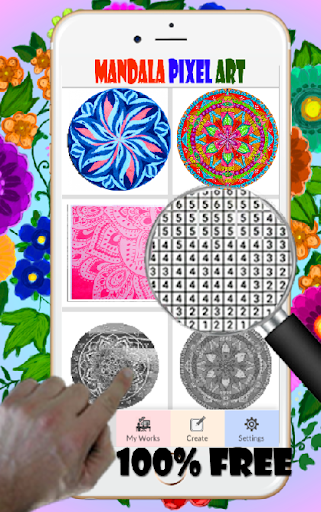 Mandala Pixel Art Coloring By Number  screenshots 3