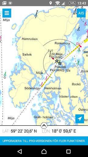 Eniro På sjön - Gratis sjökort  screenshots 1
