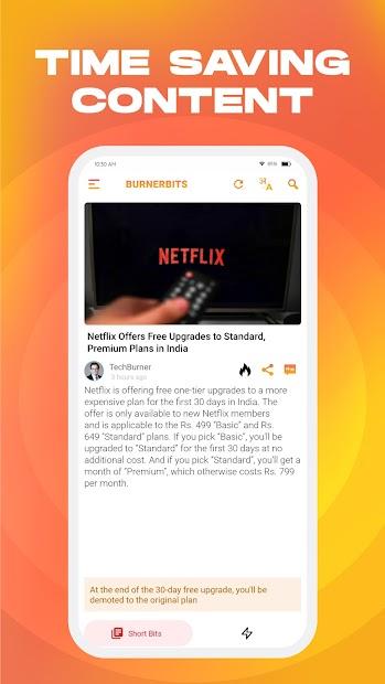 BurnerBits: Quick Fun Tech 50 Words News & Updates screenshot 1