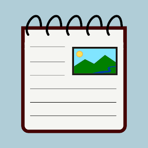 Notes with pictures easy notepad with images 3.7 by Damapio logo