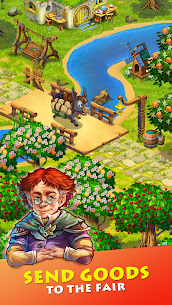 Free Farmdale  farming games  town with villagers Apk Download 2021 2