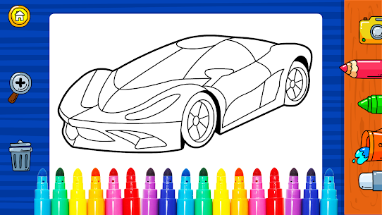 Free Learn Coloring amp  Drawing Car Games for Kids NEW 2021 **** 4