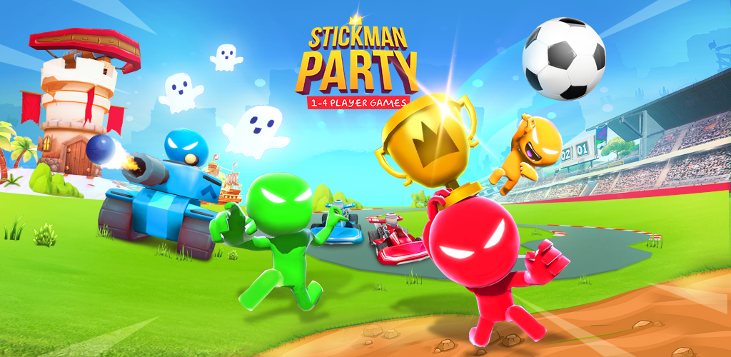 Stickman Party: 1 2 3 4 Player Games Free poster 0