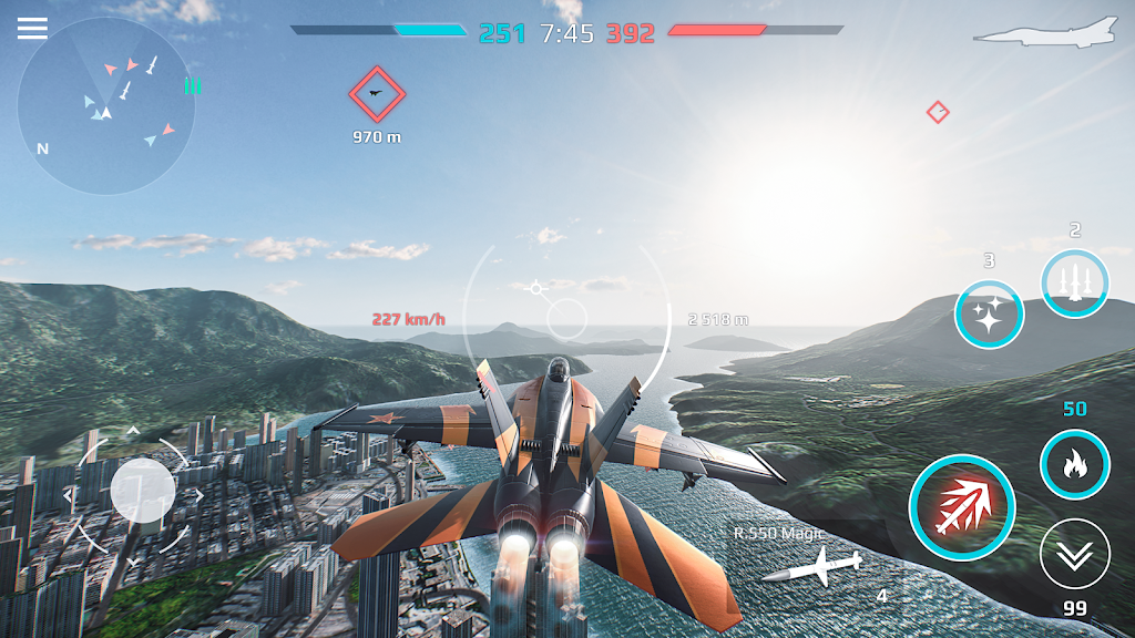 Sky Combat: war planes online simulator PVP  poster 10