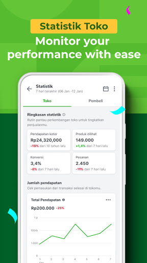 Tokopedia Seller apktram screenshots 4