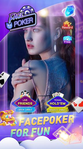 Face Poker - Live Texas Holdem Poker With Friends Apkfinish screenshots 1