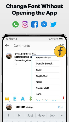 Font Changer - Cool Fonts Keyboard, Stylish Text  Screenshots 4
