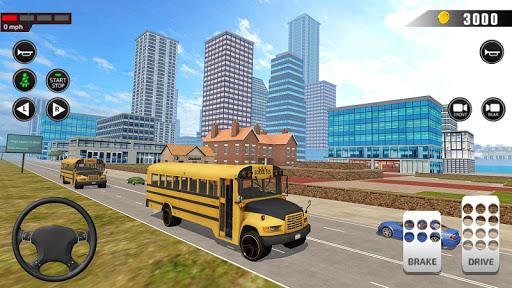Offroad School Bus Driving: Flying Bus Games 2020 apkslow screenshots 22
