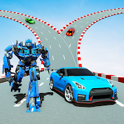 Flying Car Racing Stunt: Car Transform Robot Games