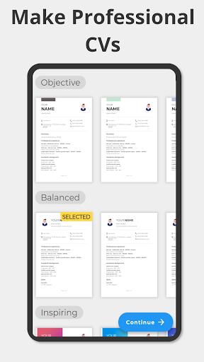 Make CV in PDF - Free Curriculum Vitae android2mod screenshots 1
