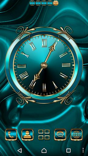 Turquoise Clock Widget  screenshots 2