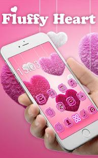 Fluffy diamond Hearts Theme: Pink Comics Launcher 3.9.12 Screenshots 1