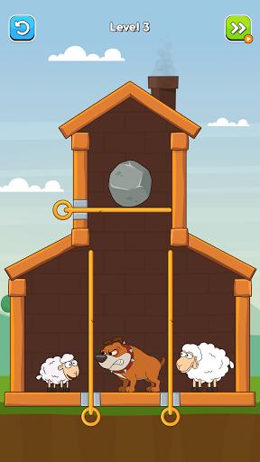 Hero Sheep- Pin Pull & Save Sheep  screenshots 1