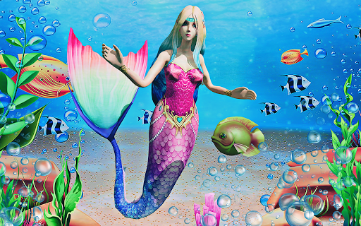 Mermaid Simulator 3D - Sea Animal Attack Games  screenshots 11