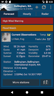 NOAA Weather Unofficial Screenshot