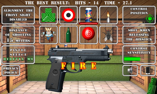Pistol shooting at the target.  Weapon simulator modiapk screenshots 1