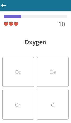 periodic table quiz screenshot 3