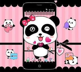 Pink Cute Bowknot Panda Theme 1.1.3 (MOD + APK) Download 2