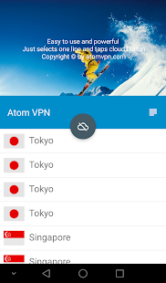 Atom VPN (100% free) Screenshot