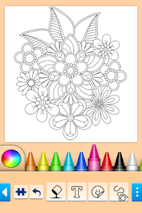 Páginas para colorear Mandala Screenshot