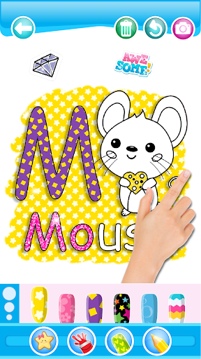 Glitter Number and letters coloring Book for kids 3.8 Screenshots 2