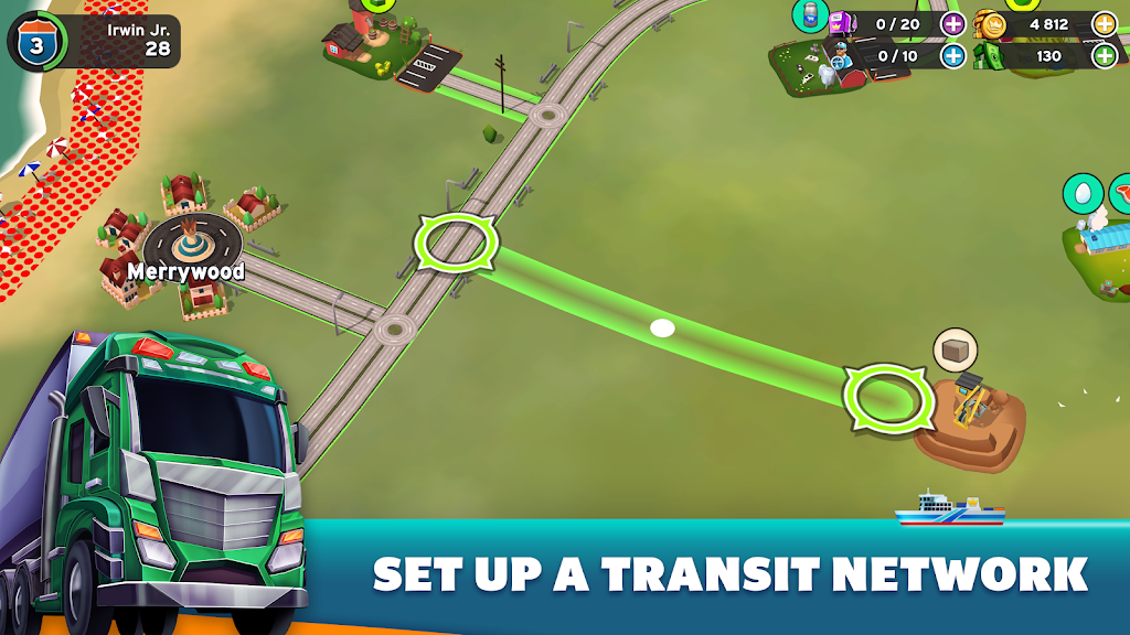 Transit King Tycoon - Seaport and Trucks  poster 3