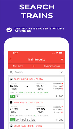 Indian Railway Timetable - Live train location android2mod screenshots 6