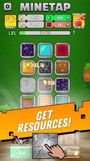 Minetap: Epic Clicker! Tap Crafting & mine heroes  screenshots 1
