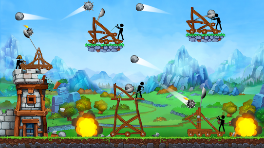 The Catapult — King of Mining Epic Stickman Castle 3