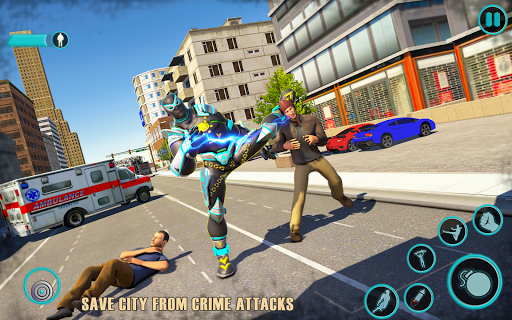 Flying Panther Robot Hero Game:City Rescue Mission apkdebit screenshots 3